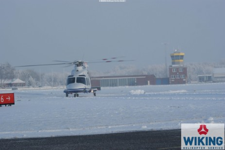 AW139 Helicopter in Mariensiel