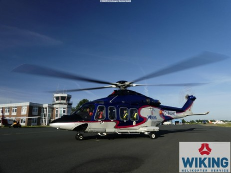 AW139 Helicopter in Emden